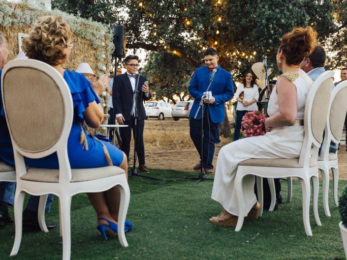 hijos en las bodas