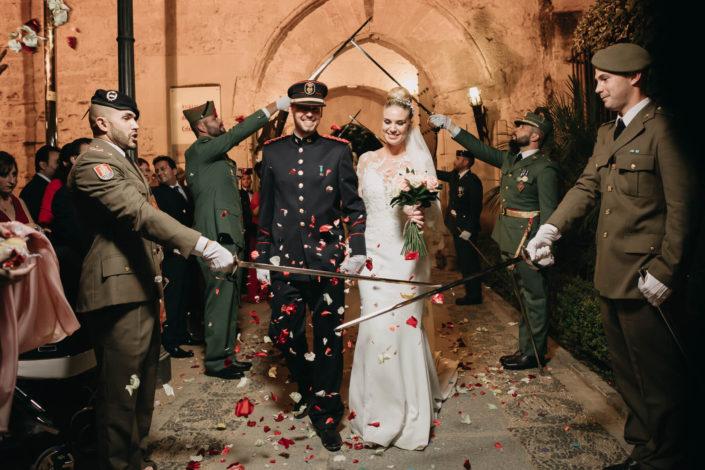 Tradiciones militares de boda con Laura y Sergio
