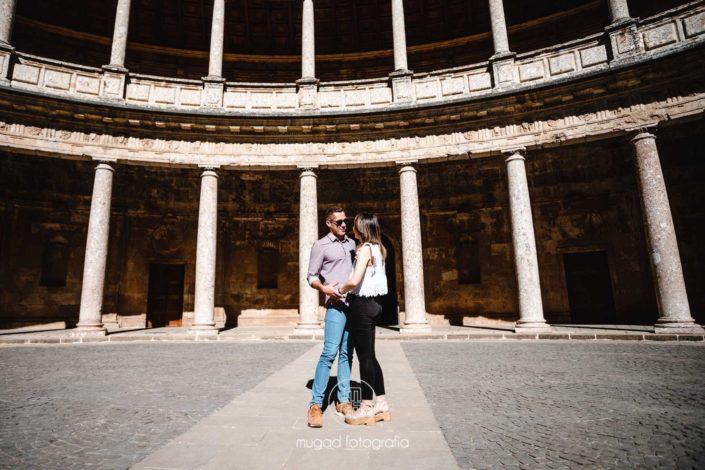Patio Palacio Carlos V Alhambra Granada