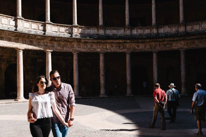 Novios palacio Carlos V Alhambra de Granada