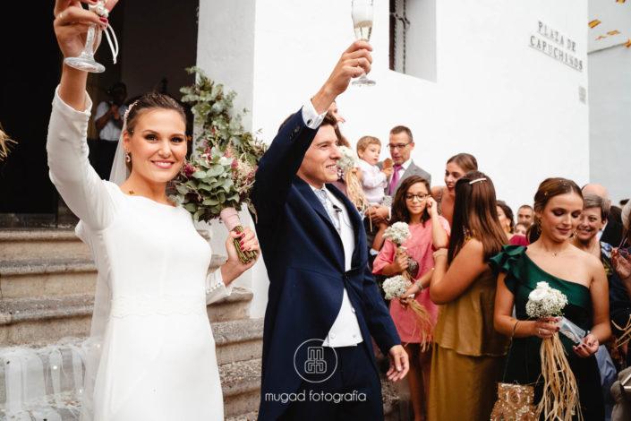 Brindis recién casados