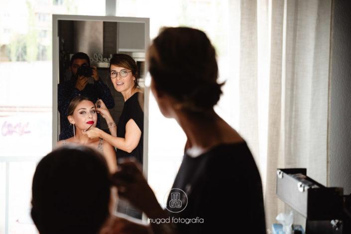 Hermana novia espejo