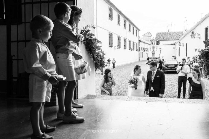 Niños esperando novia