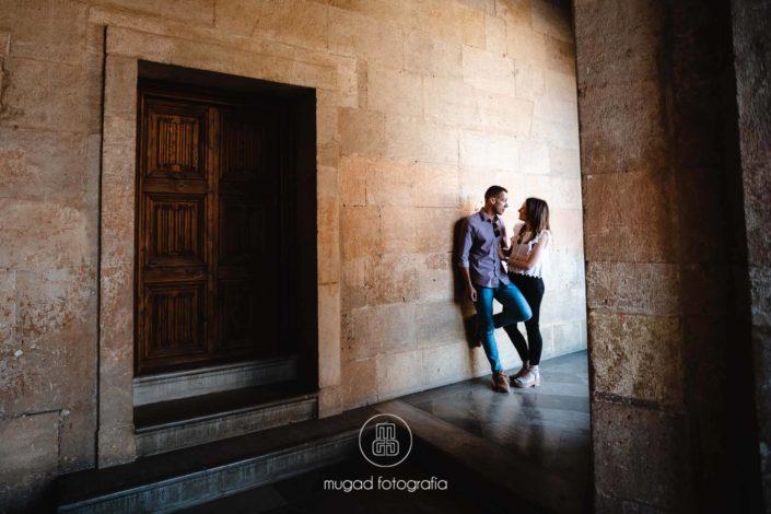 Novios pared palacio circular Carlos V